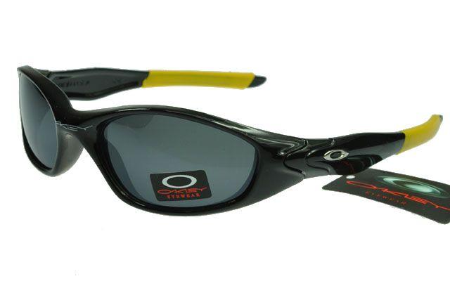 Oakley Active Sunglasses Yellow Black Frame Black Lens 0055
