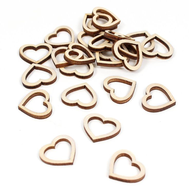 Ginger Ray Beautiful Botanics Wooden Heart Table Confetti 25 Pieces | Hobbycraft