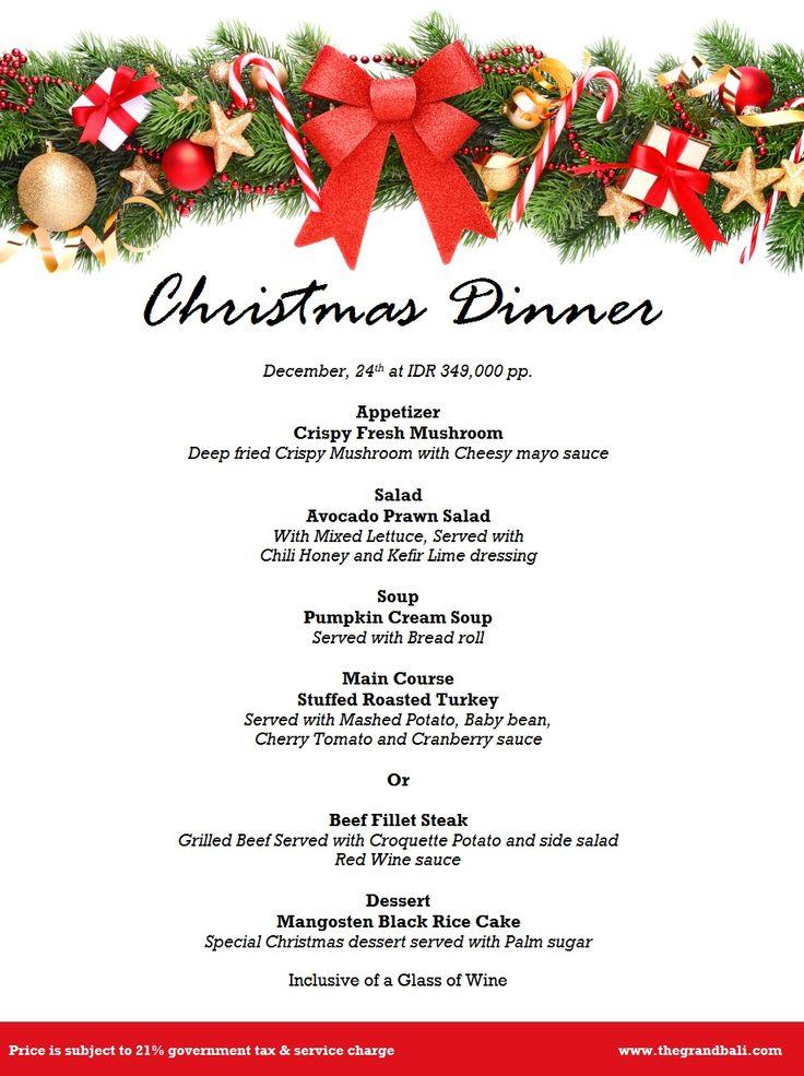 Xmas Dinner on 24 December