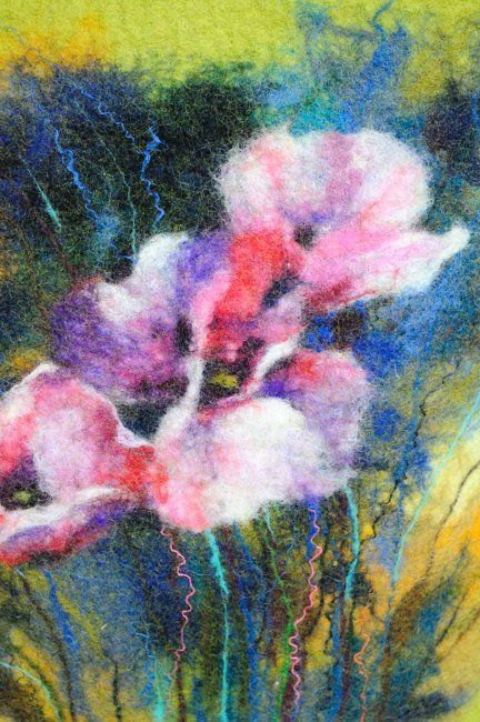 Watercolor Felting with Wool