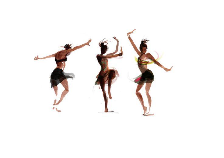 Sophie Griotto Illustration - recherches gestuelles Danse africaines 2011