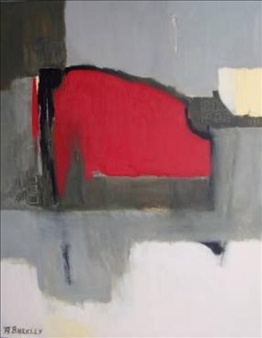 Anne Barkley has some very lovely abstract paintings and landscapes