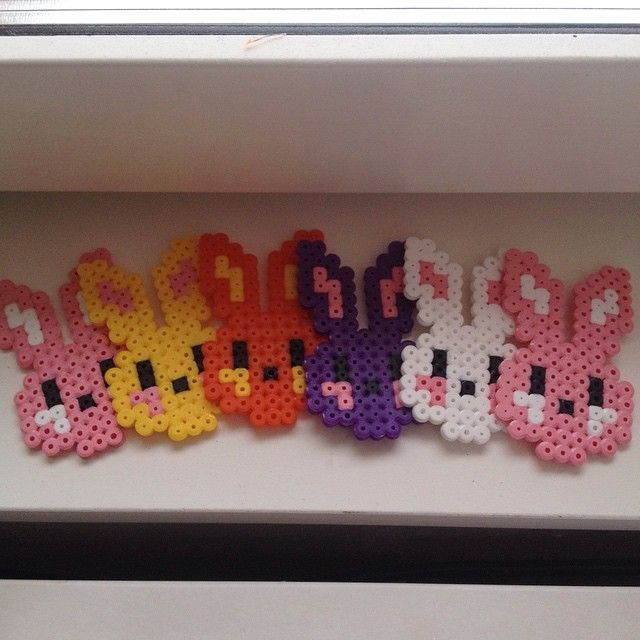 Easter ornaments hama beads  by bokpyssel