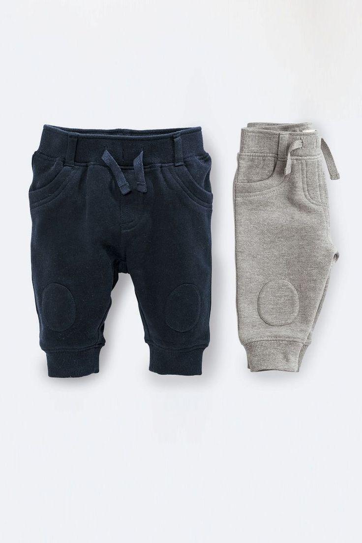 Набор из двух пар меланжевых спортивных брюк (темно-синие, серые)  Next