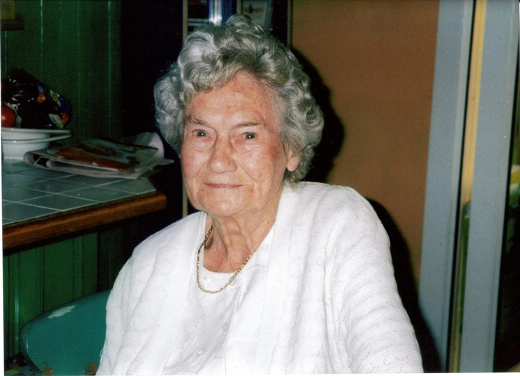 Elsie Kate Lambert 1908 to 2009. Elsie is 98 in this picture