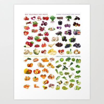 Fruits and vegetables Art Print by Gabriela Tardea - $17.56