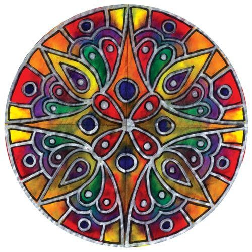 zentangle stained glass   United Art and Education Art Project: This project uses color ...