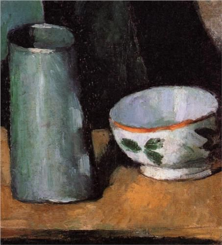 Still Life, Bowl and Milk Jug - Paul Cezanne