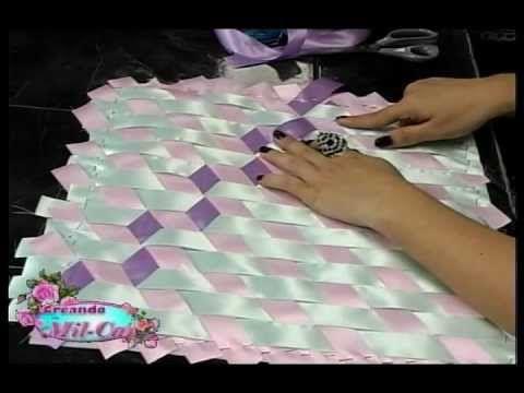 Capa de caderno com trançado em fitas - YouTube