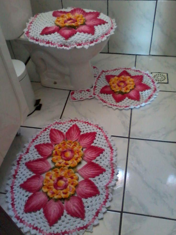 Juegos De Baño Finos: juegos de baño tejidos en Pinterest