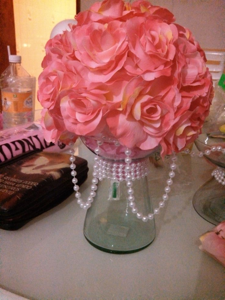CENTRO DE MESA ROSA | CHANEL BABY SHOWER FOR TAMARA ...