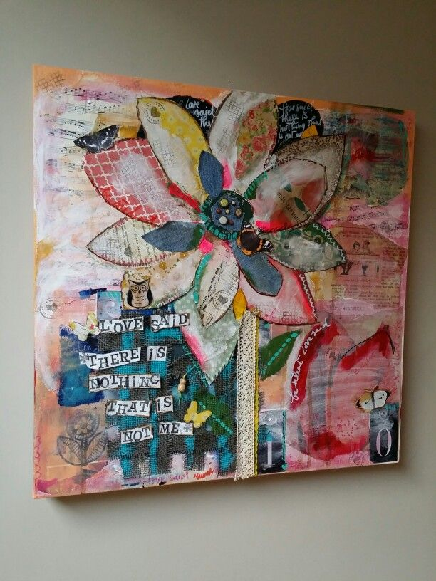 Love said 'there is nothing that is not me' -Rumi. Mixed media 50x50 cm