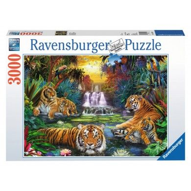 Ravensburger Tigers at the Waterhole Jigsaw Puzzle (3000)