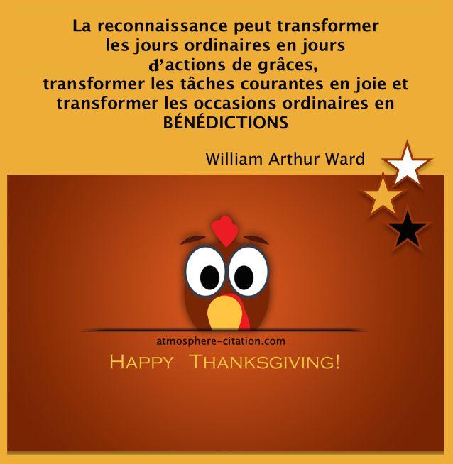 La reconnaissance peut transformer  les jours ordinaires  Trouvez encore plus de citations et de dictons sur: http://www.atmosphere-citation.com/citation-thanksgiving/la-reconnaissance-peut-transformer-les-jours-ordinaires.html?