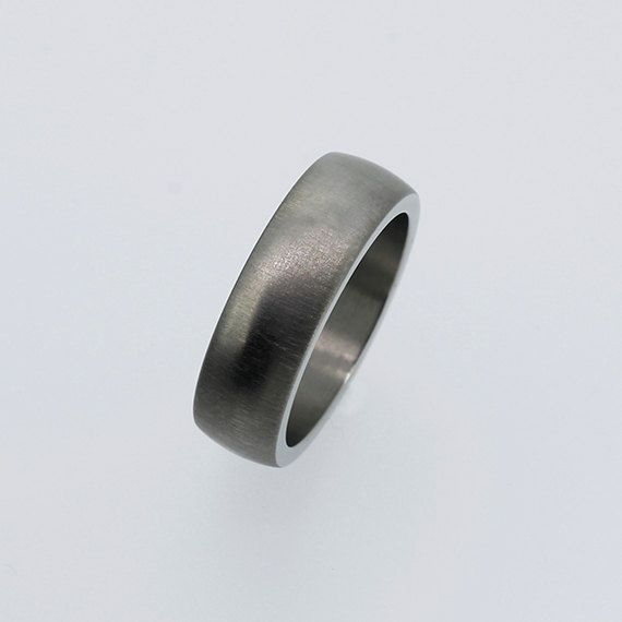 Perfect Titanium wedding band matte finish ring men us by TorkkeliJewellery