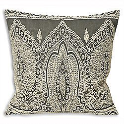 £10 Riva Home Paisley Grey Cushion Cover - 50x50cm