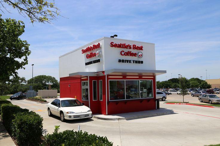 A drive thru coffee shop in Duncanville, TX love the modern structure