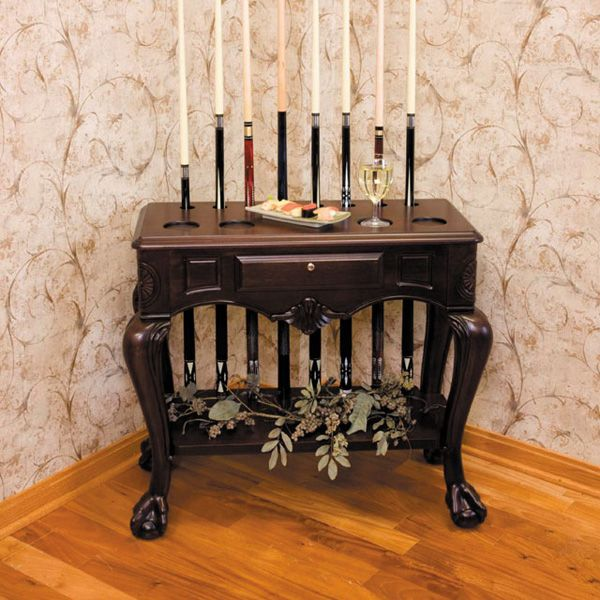 Complete your billiard room in style with a Regata Billiard Accessory Rack from American Heritage