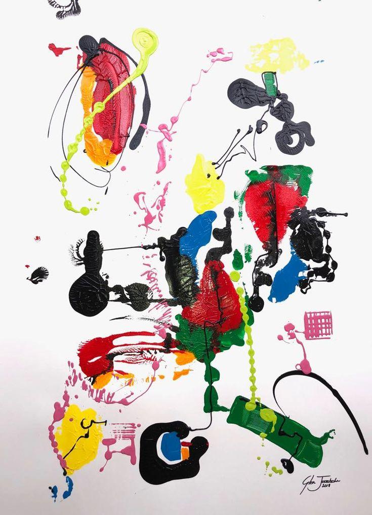 Contemporary Swirl on paper 1m x 700mm #contemporaryart #abstractart #painting #modernart