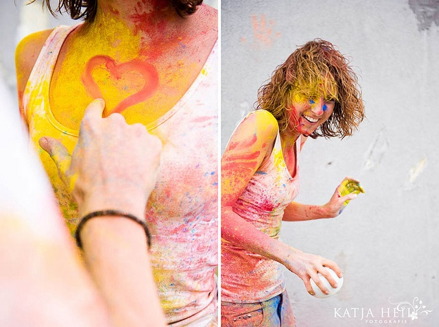colourful engagement shooting