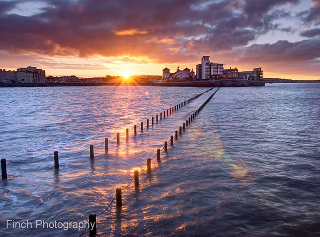 Weston Super Mare, Marine Lake, First Light by Finch_Photography, via Flickr
