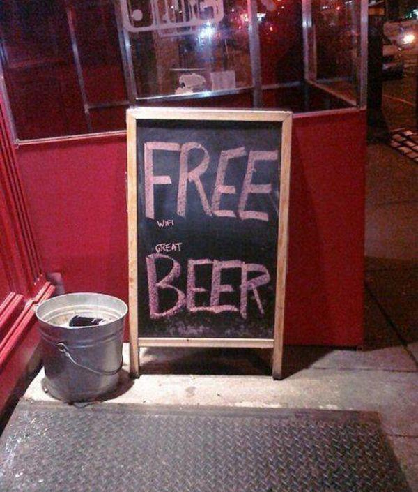 FREE  wifi  great  BEER