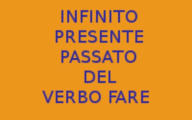 VERBO FARE - INFINITO PRESENTE E PASSATO - FRASI GRATUITE Certamente tra i modi e tempi più semplic esiste quello dell'infinito. E chi non sa coniugare un verbo qualsiasi all'infinito. Qual è l'infinito del verbo fare al tempo presente ma anche al tempo pas #fare #infinitopresente #passatoverbo