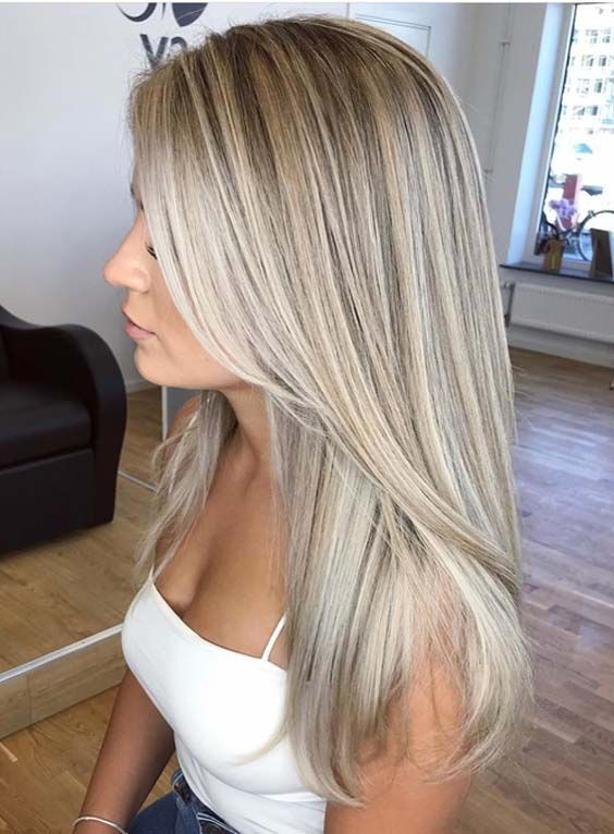 41 Perfect Blends Of Blonde Balayage Hair Colors For 2018