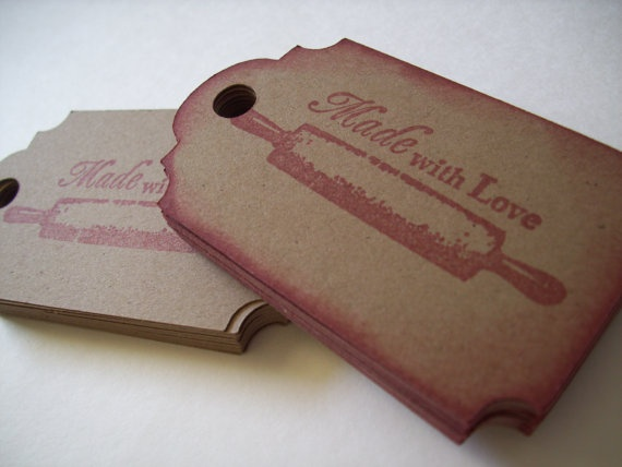 Food Label Tags Kraft Brown Gift Tags Made by BoondocksPaperCo, $4.00