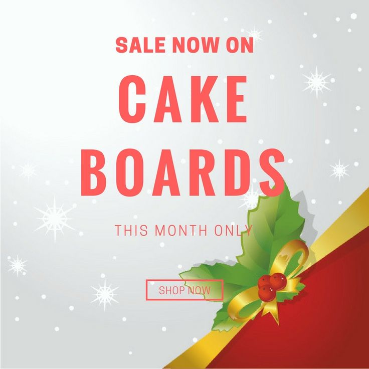 We have a sale now on for our Cake Boards. Grab them before you miss out