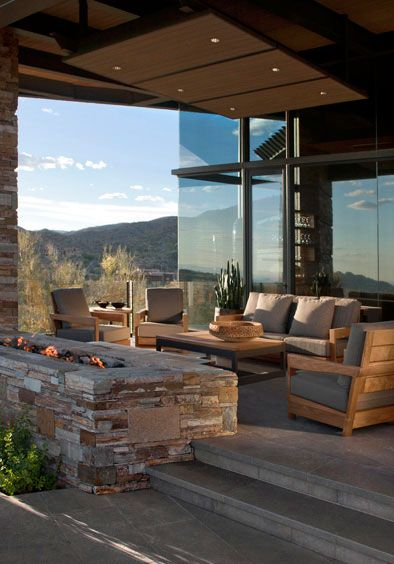 An Arizona Backyard oasis by interior designer David Miller.