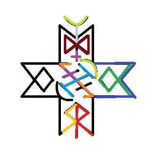 Став Возвращение души 4 Эваз, 3 Отал, 3 Науд, 3 Кеннац, Иса,  Совилу, Дагаз, Хагалаз Райдо, 2 Лагуз   Согласно природе этого знака, да сбудется моя воля. (Вы провозглашаете свою волю в простых и ясных словах: Силой этого става сделать меня целым из множества, обладающим целостной и неделимой душой) Во имя всех богов и богинь, живущих и когда-либо живших в Вальгалле, - Одина, Тюра, Тора, Фригг и Фрейи! Да будет так!