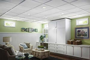Armstrong Sahara 2x2 Ceiling Tiles w/ StyleStix Grid Covers