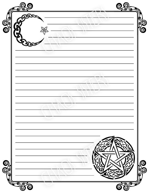 Blank Book Of Shadows Printable Pages Set Grimoire Pages Wicca Printables Witchcraft Scrapbooking Digital Paper Diy Witch Magic Journal Blank Book Of Shadows Book Of Shadows Witch Coloring Pages