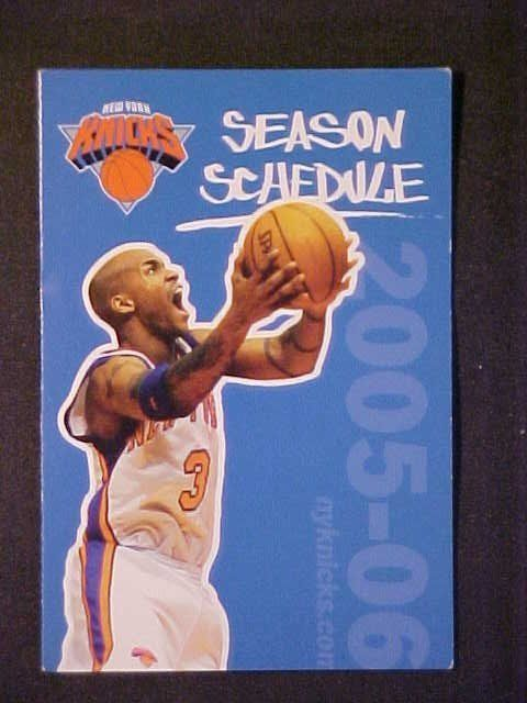 2005-06 New York Knicks Schedule! Bud Light from $0.99