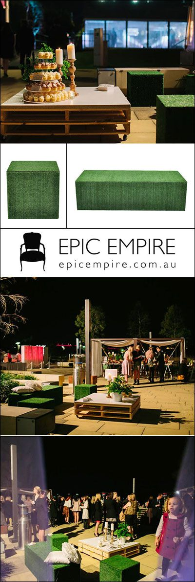 Grass Cube and Rectangular Ottoman for an outdoor botanical theme. These natural grass-looking pieces surely match any wooden furniture especially dry crates tables and bars.  http://www.epicempire.com.au/grass-cube-rectangular-ottoman/ http://www.epicempire.com.au/grass-cube-rectangular-ottoman/