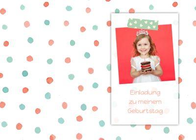 So Wird Eine Prinzessinneneinladung Draus: Einladung Zum  Kindergeburtstagmit Eigenem Foto, Am Besten Mit Diadem Oder Krone.