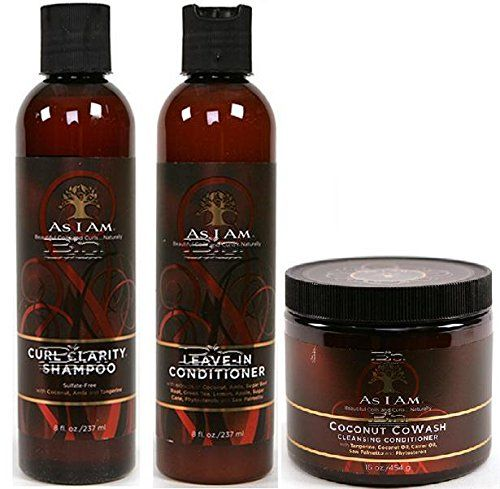 As I Am Naturally 3pcs Combo Deal Curl Shampoo LeaveIn Conditioner and Coconut CoWash Plus 1 free pencil ** You can find more details by visiting the image link.