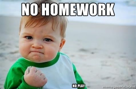 Image result for no homework funny