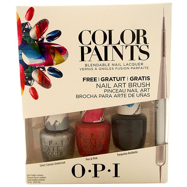 OPI Four-Piece Color Paints Nail Polish Set ($15) ❤ liked on Polyvore featuring beauty products, nail care, nail polish, opi nail care, opi nail polish, bright red nail polish, red nail polish and sticker nail polish