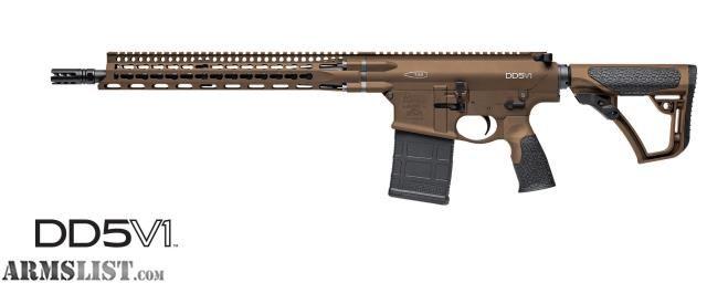 "For Sale:  Daniel Defense DD5V1 Dark Brown 7.62x51 18"""