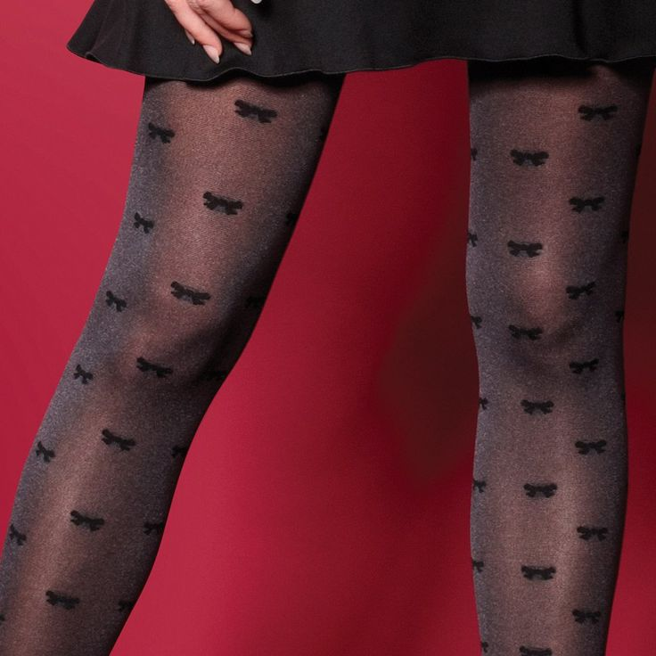 Charnos Bow tights - END OF LINE - SAVE 40%