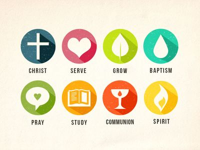 Dribbble - Church Icons by Megan Watson