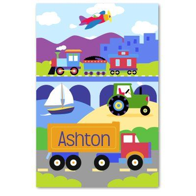 Olive Kids Trains Planes and Trucks Personalized Unframed... https://www.amazon.com/dp/B001EPE2I6/ref=cm_sw_r_pi_dp_gILJxb51NJ9DR