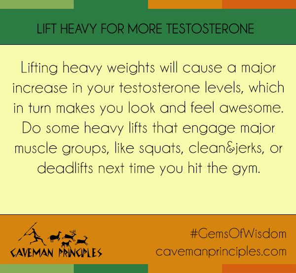 For more tips on boosting your testosterone levels and optimizing your hormones to gain muscle and lose fat, check out Caveman Principles  http://cavemanprinciples.com/