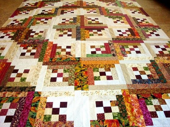Log Cabin Patterns : Love this patch as center of log cabin quilting