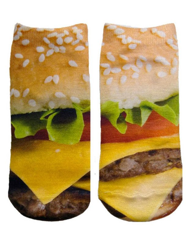 Socks | 43 Absolutely Necessary Items For Everyone Obsessed With Burgers