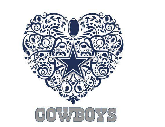 dallas cowboys football heart svg
