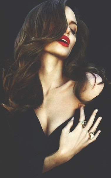 Angelina Jolie + Cherry red + Lips
