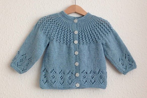 This beautiful Rosabel knitted baby cardigan has a lovely vintage feel and look about it. The lace cardigan comes in 4 different sizes ...